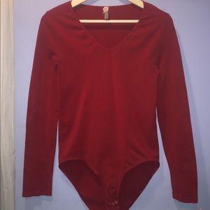 Red Victoria secret bodysuit